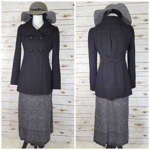 Vintage Pendleton Grey Patterened Wool Skirt S 10